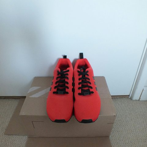 4c6c67346 Adidas red zx flux trainers Worn once Size 11 UK - Depop