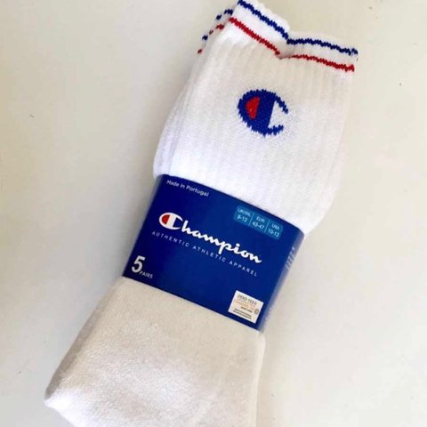 ca32a0a042d Authentic white champion socks for sale!    Brand New    1 - - Depop