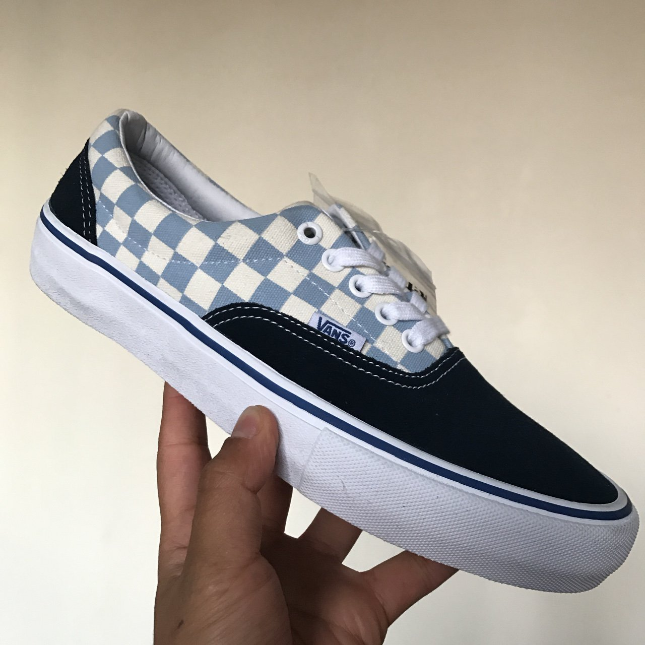 Era Pro (Checkerboard) Dress Blue Marshmallow Brand new No - Depop 43e6399ca