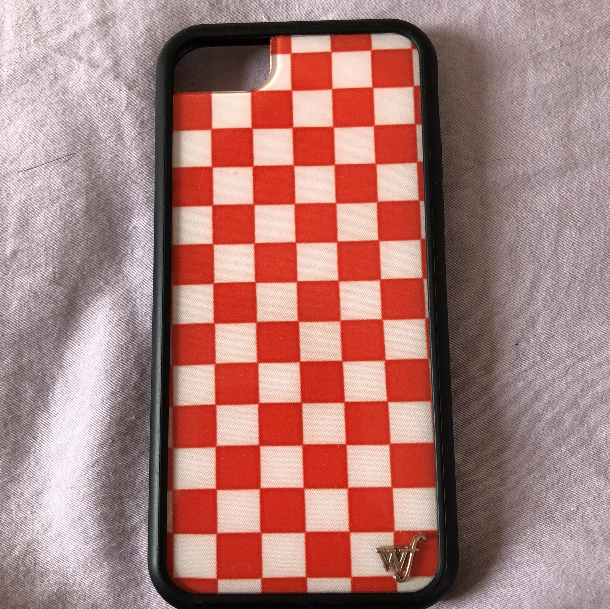 best website 13958 7cd84 red and white checkered wildflower case for iphone... - Depop