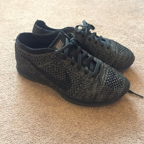 ... detailed images dcfb6 0a04c Triple Black flyknit racer Size 3 but fit  very big like a ... 7b12c5d6ec22
