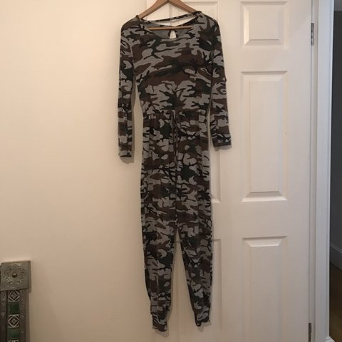 c74799774309 @remass. 7 months ago. Radlett, United Kingdom. Super cute boohoo army  cargo style onesie / one piece / pjs ...