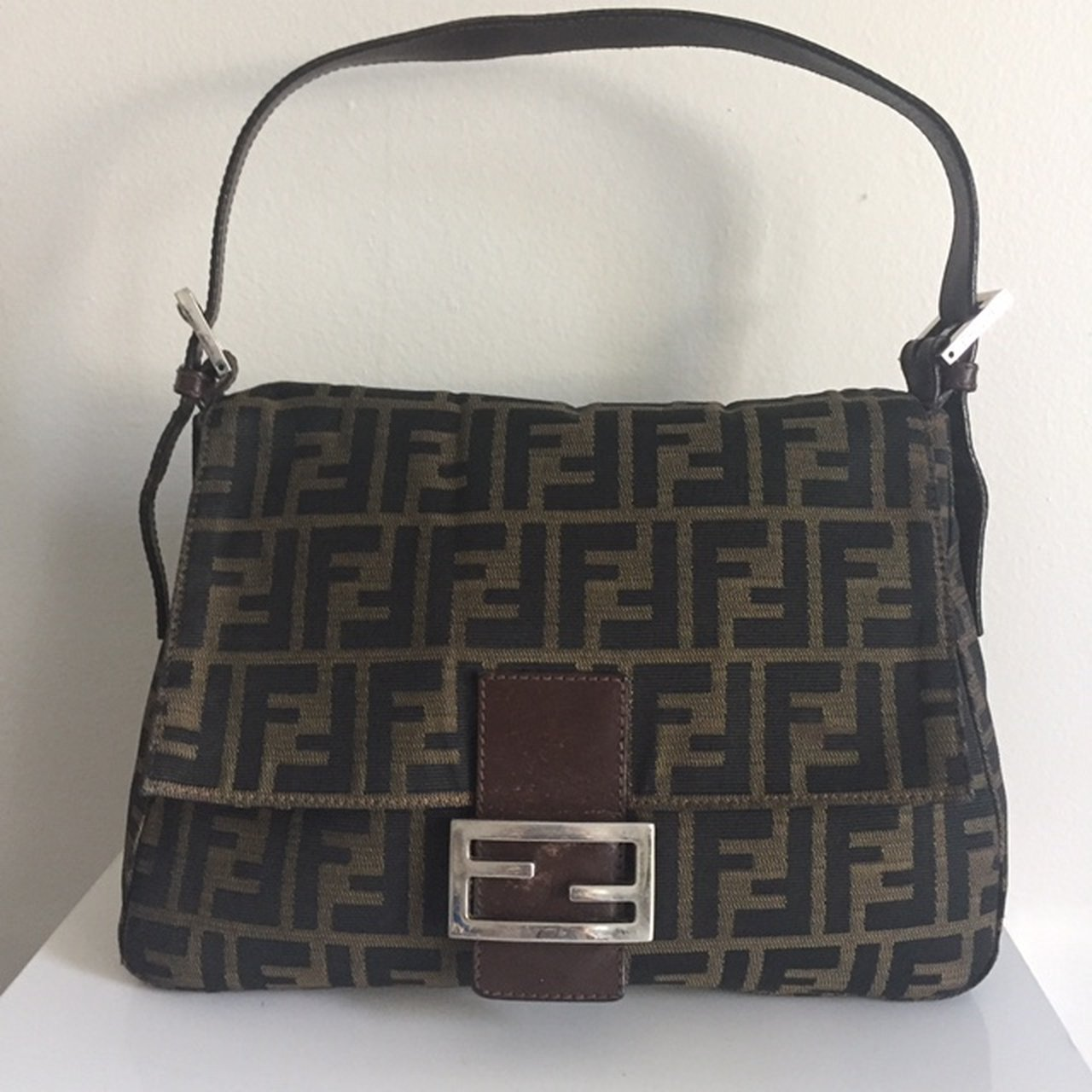 234027f20ebcf  judestreasures. 4 months ago. United States. Authentic Fendi Zucca Mama  Baguette Tobacco. Stylish shoulder bag ...