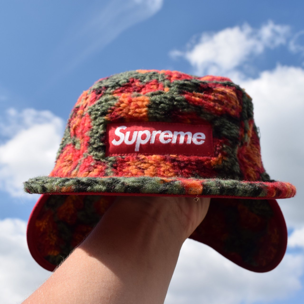 Supreme Rose Sherpa Cap with Ear Flaps. Ignore Palace Hat - Depop 07d57cd7222