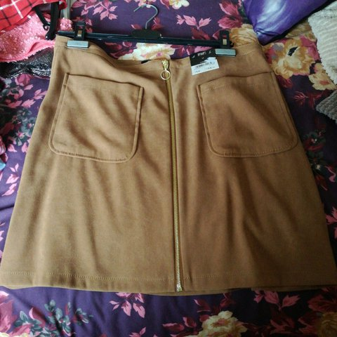 1e65120601 Brand new brown skirt from tesco, tags still on it. Size 14, - Depop