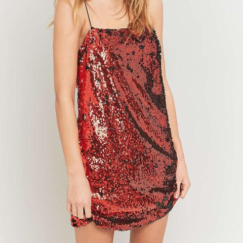 00f89a184818c2 Urban outfitters red sequin dress