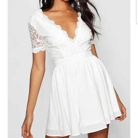 0ea607aeae @lucyhayler. 10 months ago. Chichester, West Sussex, United Kingdom. White lace  top skater dress