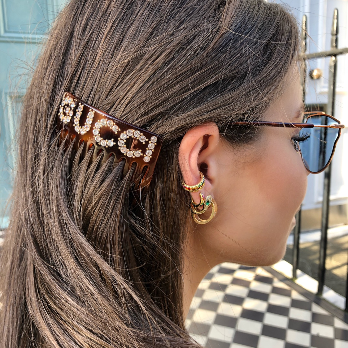 421457a5177 Sold out** limited #GUCCI crystal and resin hair... - Depop