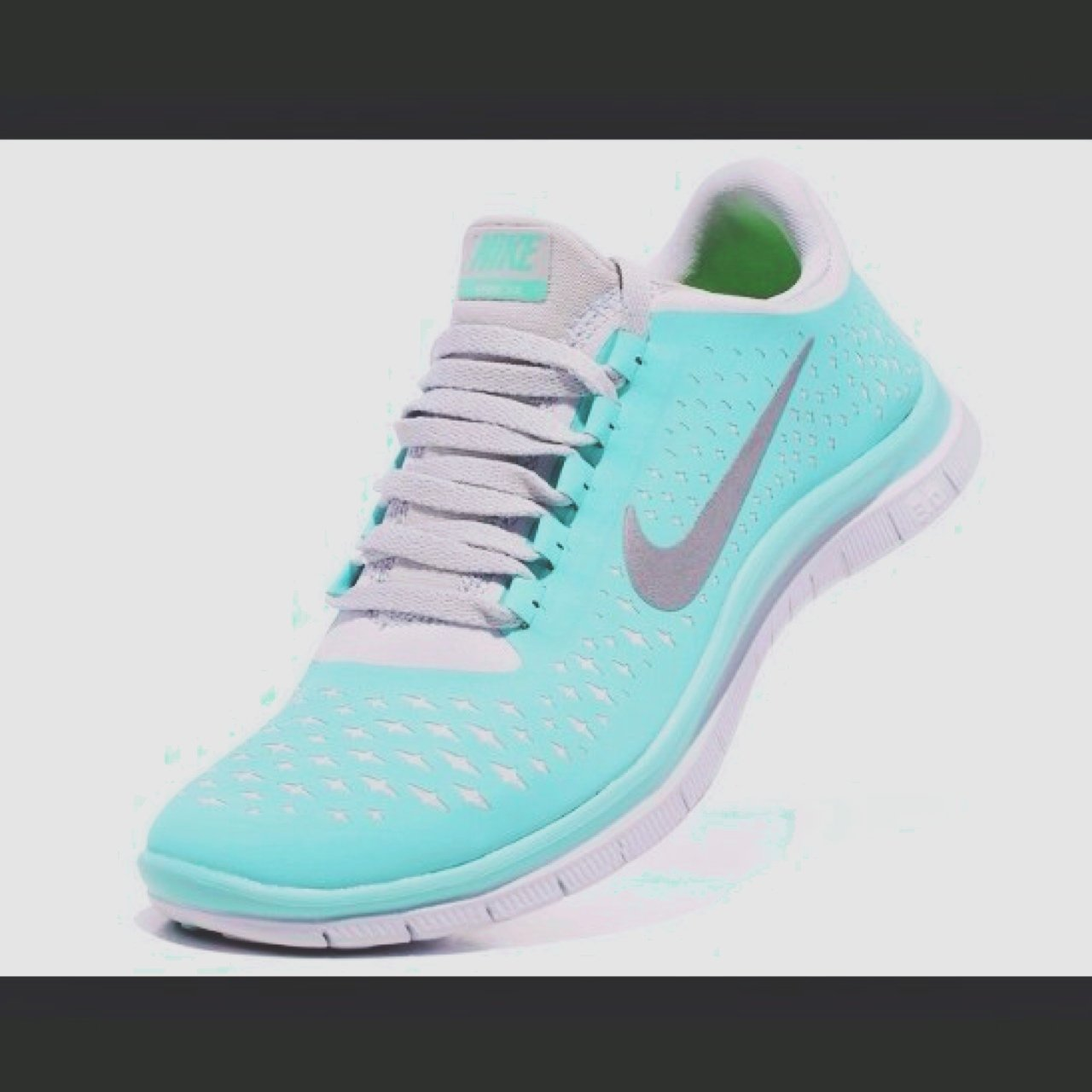 6c709016597a Nike free run Tiffany blue size 5.5. Identical to the pm me. - Depop