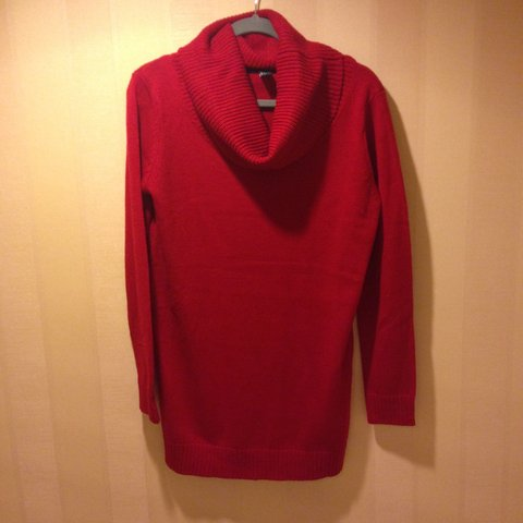 b5da55f3038 Forever 21 red cowl neck sweater dress.  forever21  sweater - Depop