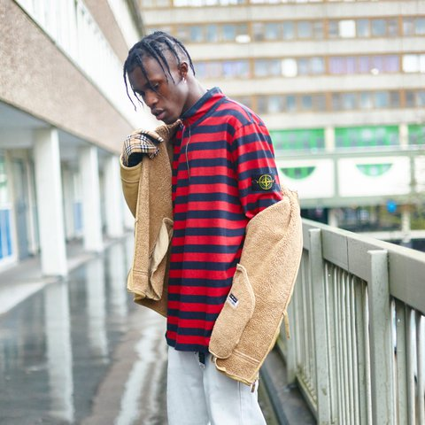 611a9e76de @originalmaterial. 2 years ago. London, UK. Supreme X Stone Island 1/4 Zip  striped long sleeved ...
