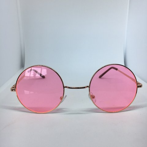 69792991199 🕶 Unisex Women s   Men s Sunglasses 🕶 Pink Round Lenses   - Depop