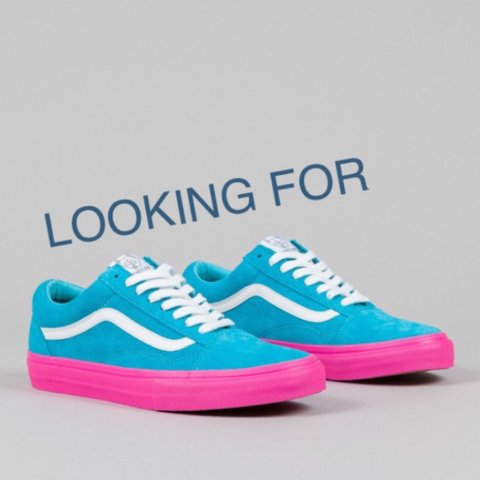 4cf0e18ad6424e Vans X  Syndicate  Golf  Wang  Old  Skool Blue Pink Looking - Depop