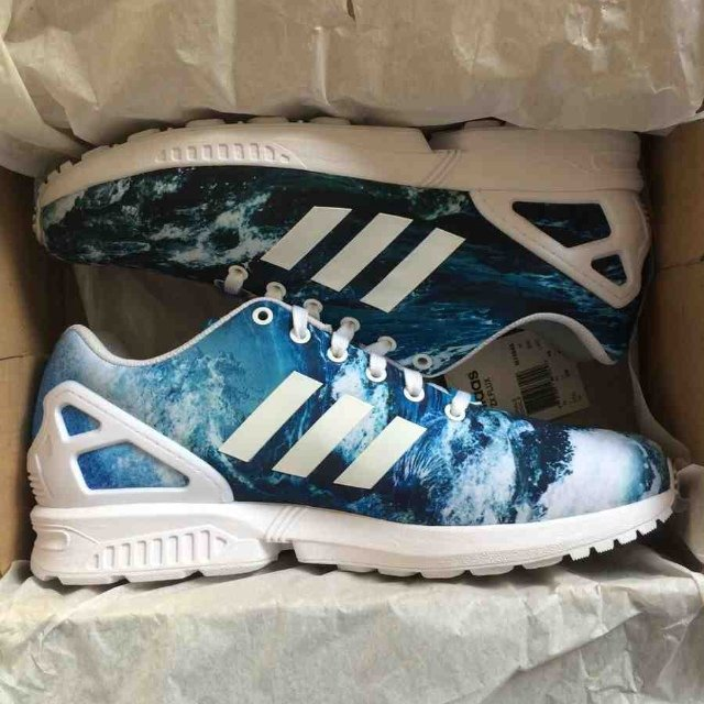 8365ba0817945 ... trainers y76n2760 a6d0b 65672 germany adidas zx flux ocean from the adidas  zx flux print pack. a depop f1f90 ...