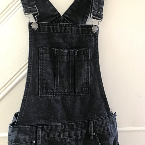 192ab9ac706f Black denim dungarees/overalls from New Look, really cute or - Depop