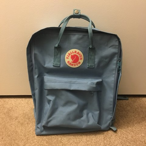 55bf86a18b5 @jhoannamay. 10 months ago. Riverside, United States. fjallraven kanken 15  inch backpack in sky blue (blue ridge ...