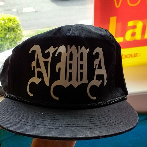 64e92d826d4 NWA BLACK SNAPBACK HAT. PERFECT FOR SUMMER