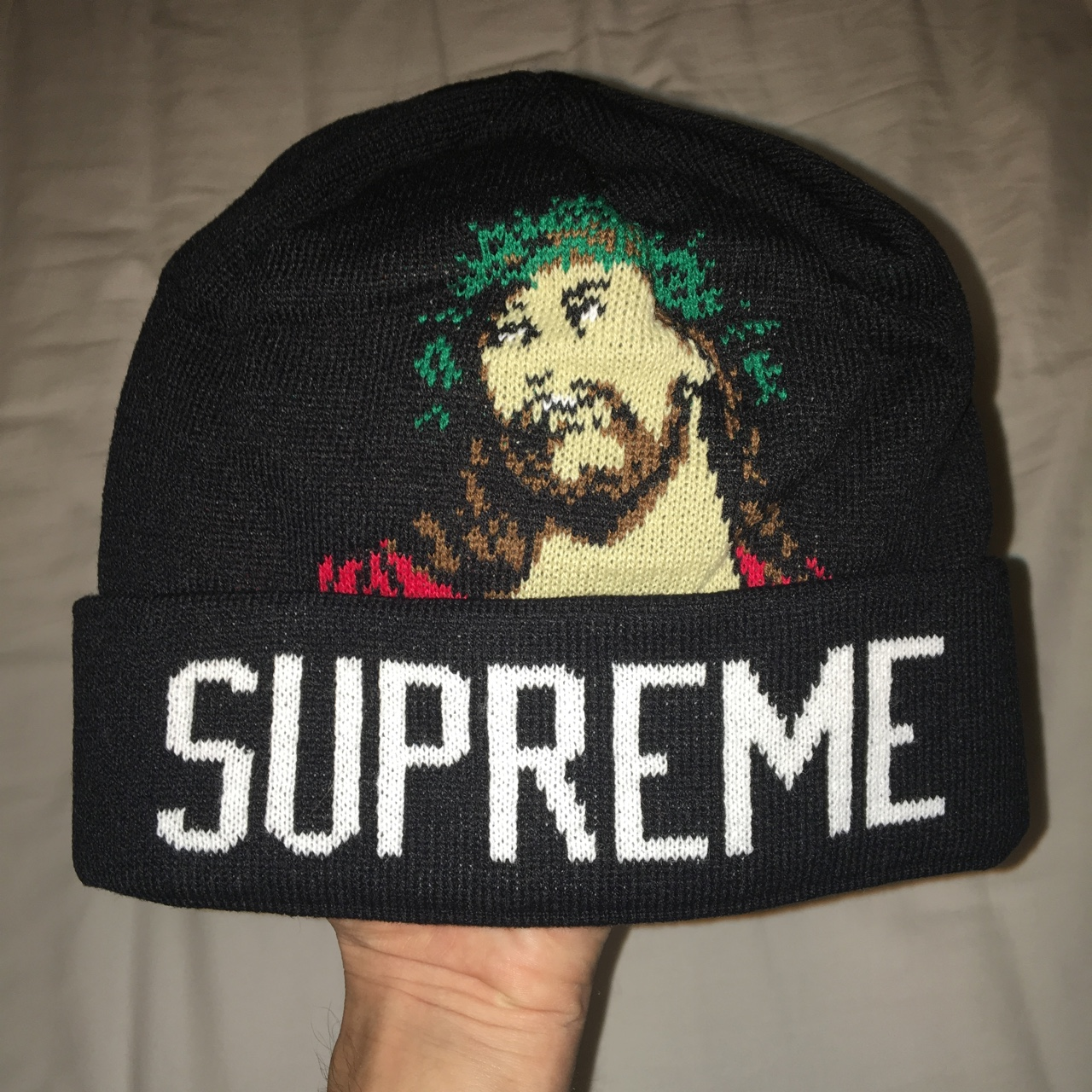 13ccac3fa DS Supreme Jesus beanie. Brand new, it's been in the... - Depop