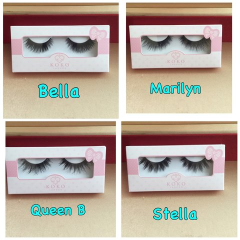 ac374b463f2 Koko Lashes QUEEN B,STELLA,MARILYN and BELLA~~ Brand new in - Depop