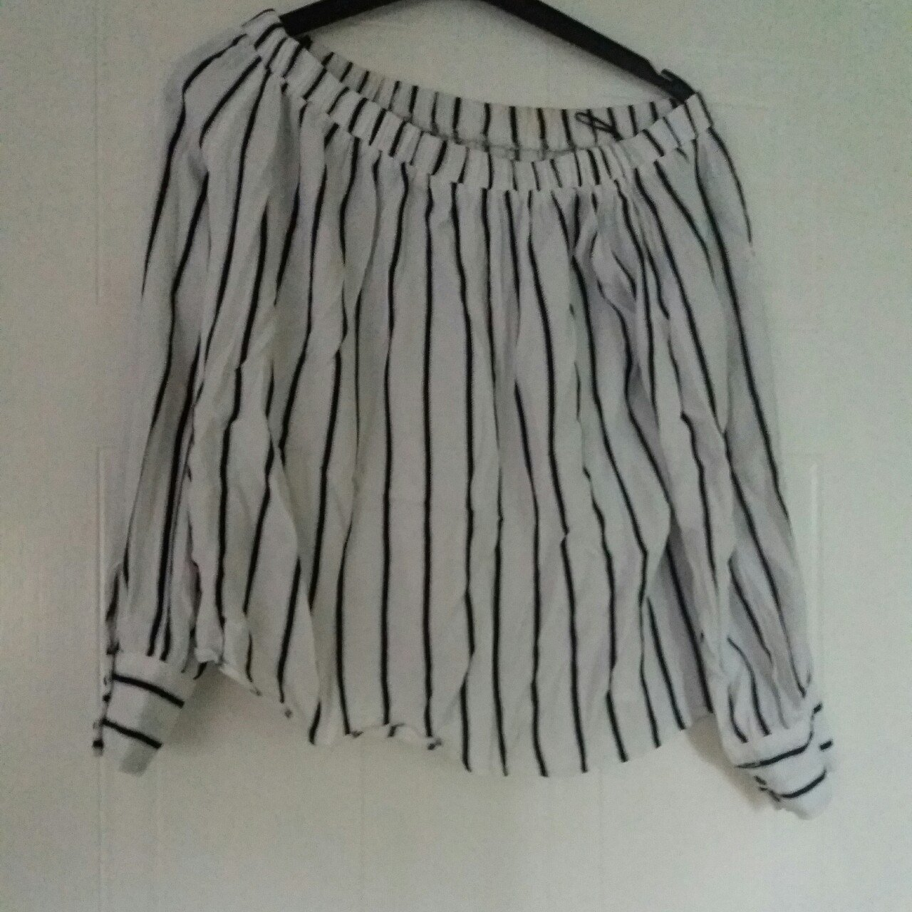 d7f29334f2c93 Size 10 Matalan bardot top . Only worn a few times but is to - Depop