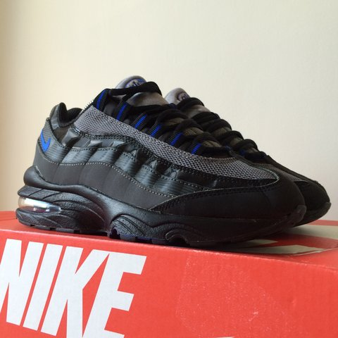 ea8cd33c35 100% Genuine Nike Air Max 95 GS Size Uk4 black & blue colour - Depop