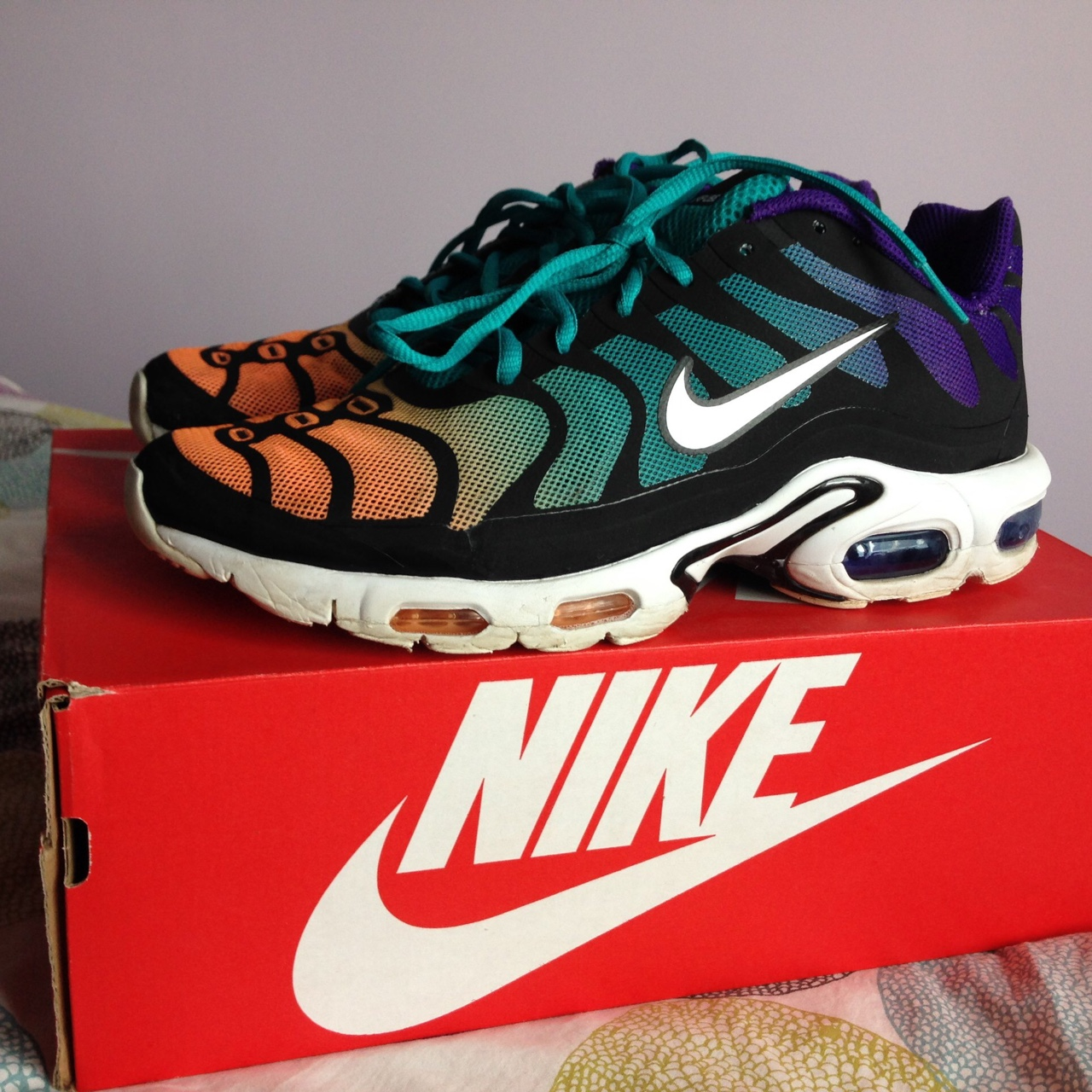 Nike air max plus tn hyperfuse with 3M reflective Depop
