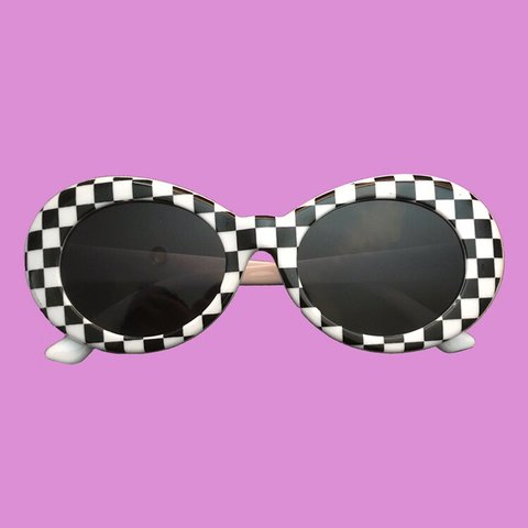 9a601d9f401aa Checkered Sunglasses AKA Clout goggles. Brand new in cobain - Depop