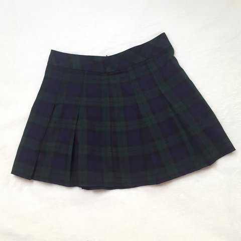 434d0241a Beaut tartan skater skirt, a lovely blue and green plaid a a - Depop