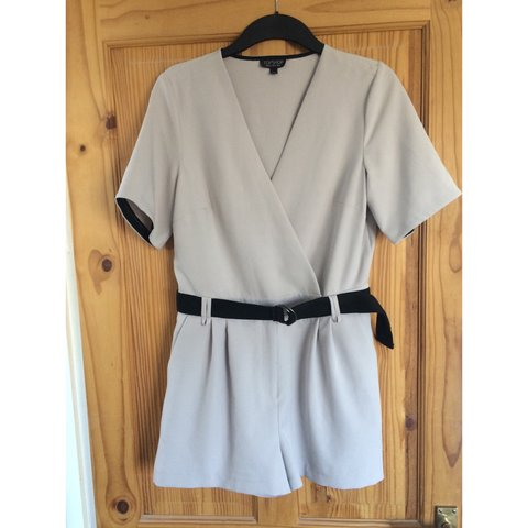 9ed34529b89a Topshop Judo Wrap Playsuit. Size 12. Worn Once. Bought For - Depop