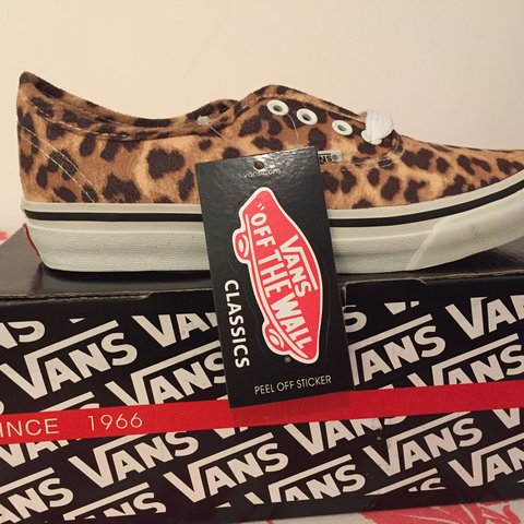 1cbcee10e2 New classic Vans animal print never worn still with the box - Depop