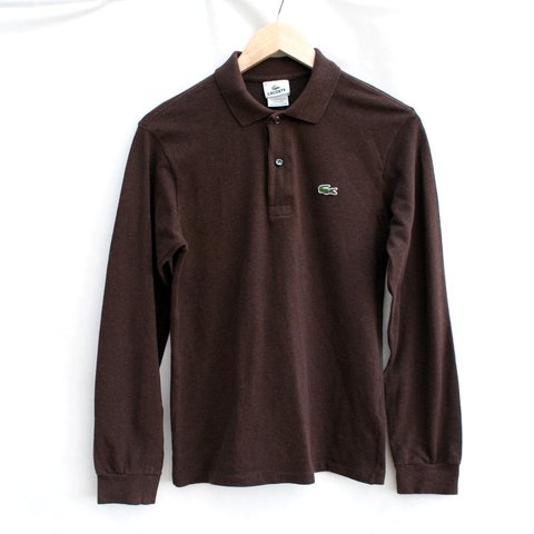 f86a5d77 @caseclothing. in 11 hours. Manchester, UK. Vintage Lacoste Brown Rugby  Shirt in Lacoste mens size 2.