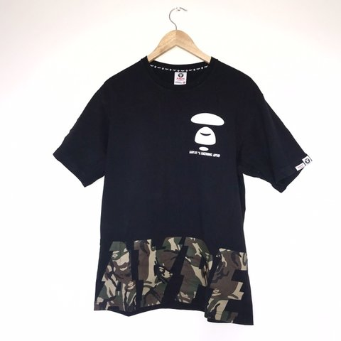 255b4a86e @caseclothing. 8 months ago. Manchester, United Kingdom. Aape By A Bathing  Ape Black / Camo Tee Shirt ...