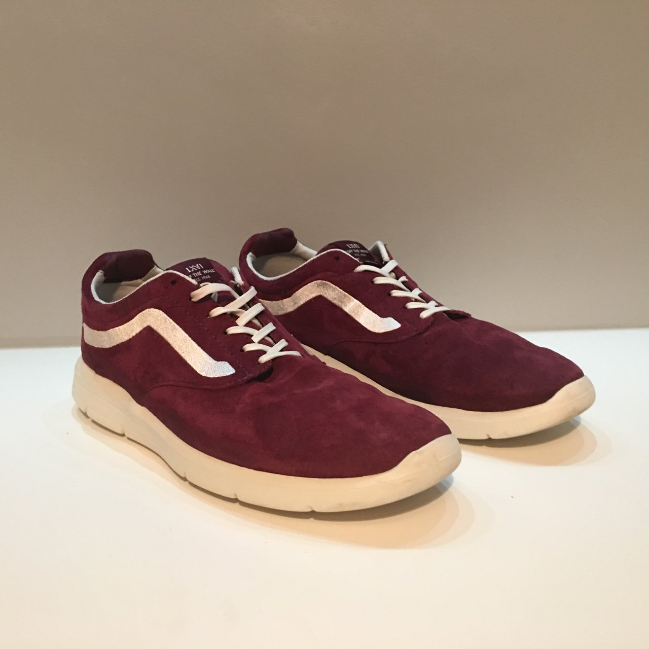 Red Maroon Burgundy Old Skool Old School suede Vans Such now - Depop 3b3f9c463