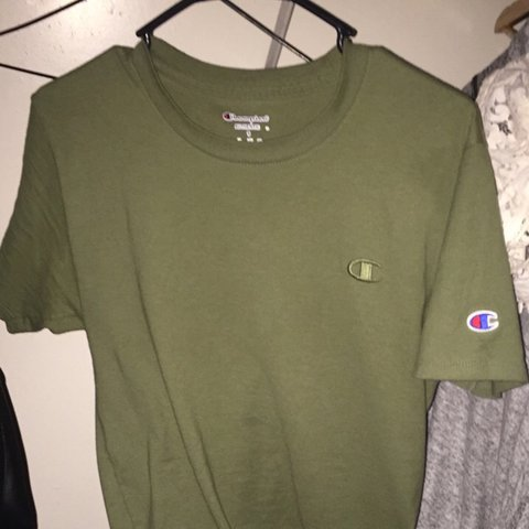 614ddd584953 Basic Champion t shirt in an olive green color way