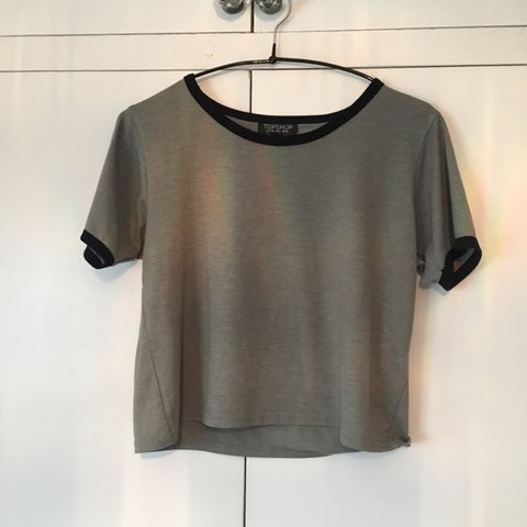 353ab71694d @izzydoylee. 2 months ago. London, United Kingdom. Grey Crop T-shirt. Topshop  Size 10