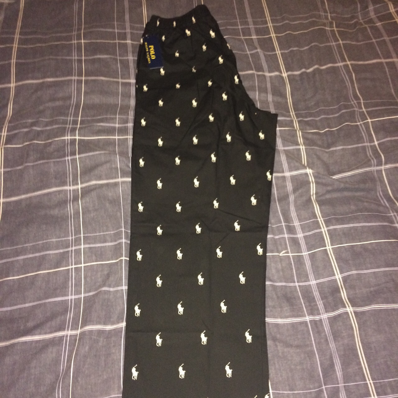 Polo Ralph Lauren All Over Pony Print Trousers by Depop