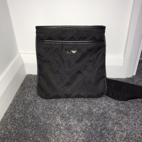 9d705ed9e @fjdurham99. 3 months ago. United Kingdom. Men's black Armani manbag / cross  body bag ...