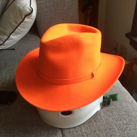 BLAZE orange cowboy hat. Hat is made of 100% wool felt. Tag - Depop 76d9b6aa771