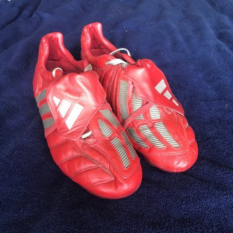 7d2bc4f6e94d ... inexpensive rare adidas predator mania size 10 uk football boots in red  depop 17e17 8d4ef