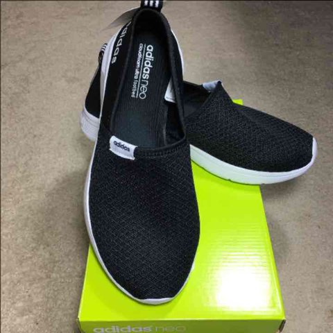 NEW ADIDAS NEO BLACK WOMEN SLIP ON SHOE Women s shoes by neo - Depop 9c25ad8dd