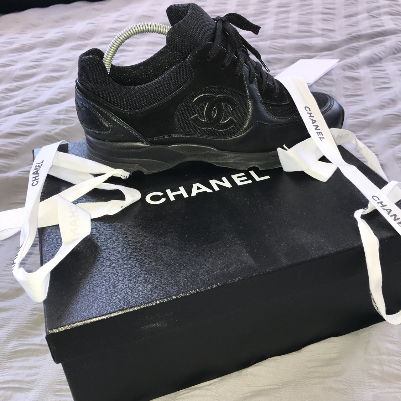 CHANEL trainers bought from selfridges