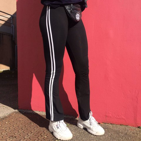 a35b63306860d UNIF TRACK PANT Athletic inspired stretch track pants witz a - Depop