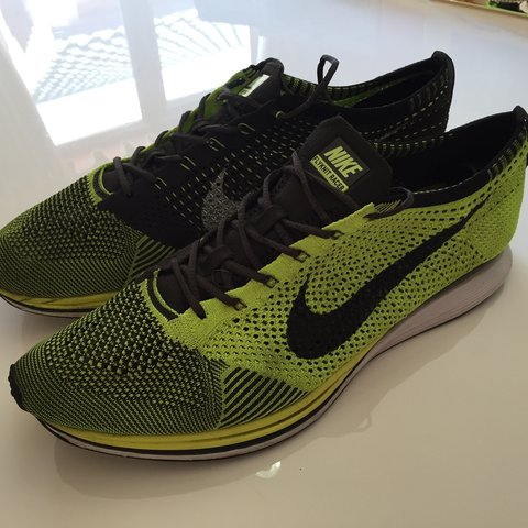 the best attitude d7a20 aa796  ricotartag. 2 years ago. Great Eccleston, United Kingdom. Nike flyknit  racer in Volt ...