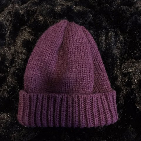 892d23ec8cd50 Warm Soft Cable Knit Beanie- Purple Very trendy   57 cm