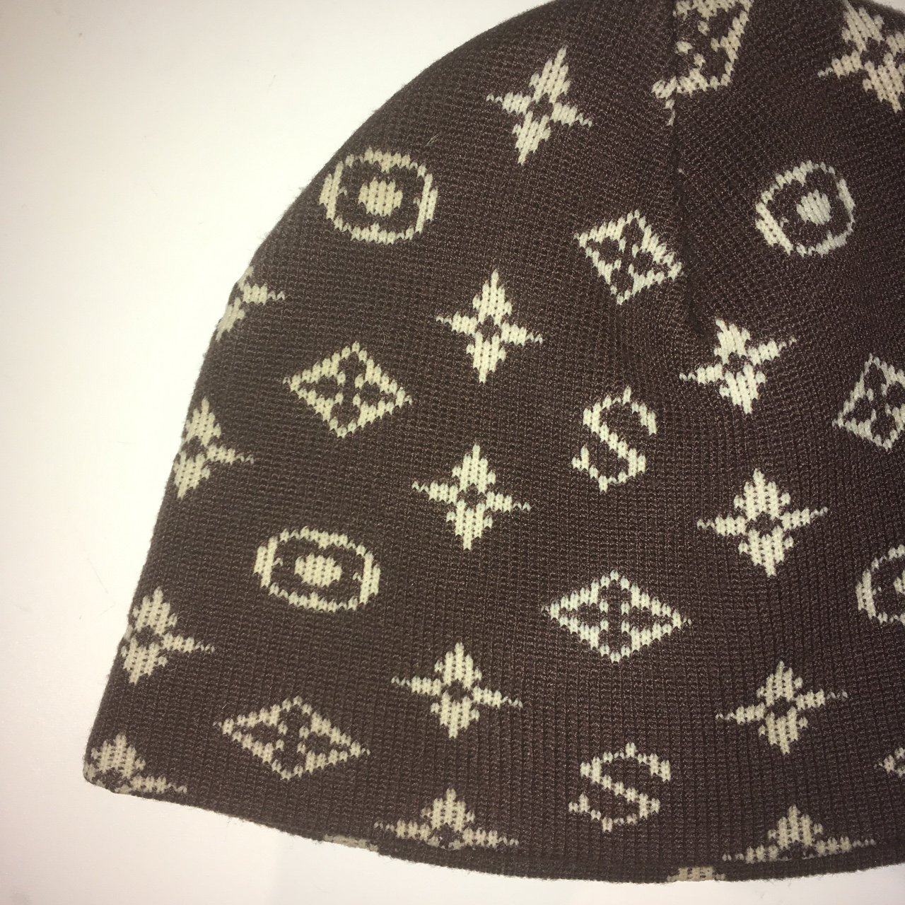 Supreme x Louis Vuitton monogram beanie hat from 2002 really - Depop f17af8caf3b