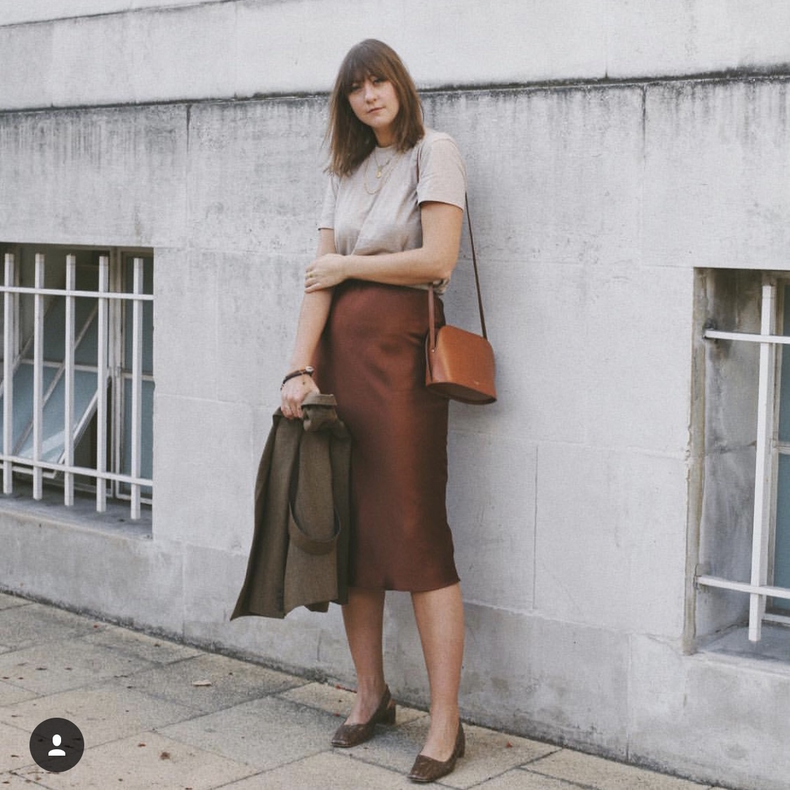 official images best supplier look good shoes sale Chocolate brown Topshop satin bias midi skirt SOLD... - Depop