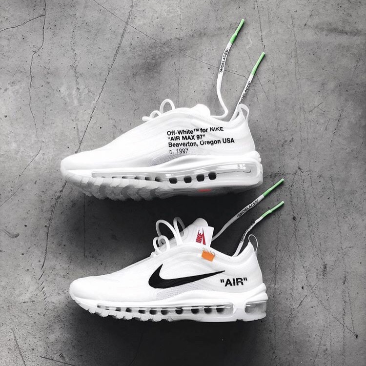 NIKE X OFF WHITE AIR MAX 97 IN HAND UK 10 US Depop