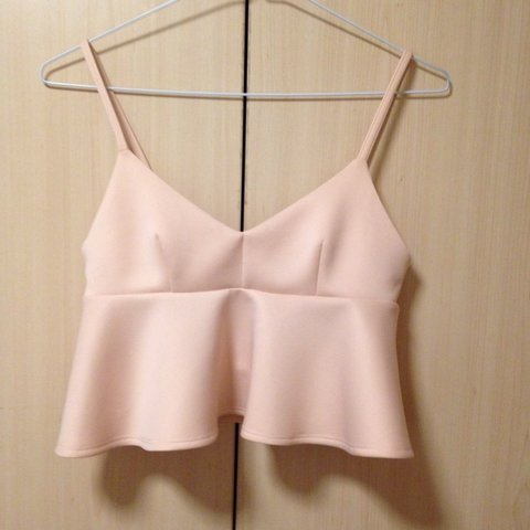 215322df544ec TOPSHOP Petite pastel pink crop top  top - never worn