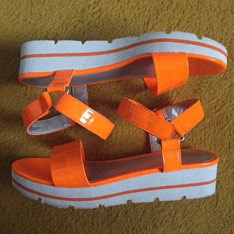 f4cb5fe25fd  evevintage. 7 months ago. United States. neon orange platform sandals. has  slight wear to mostly ...