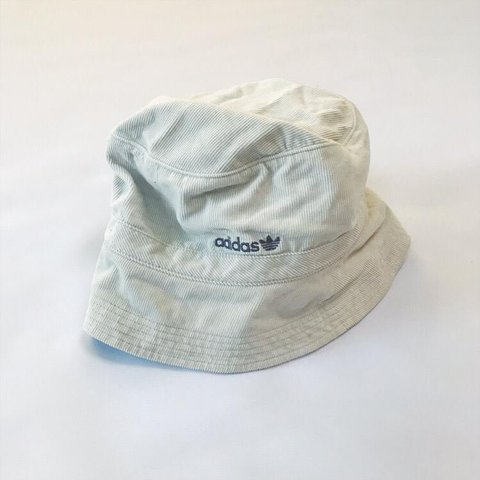 5ae2e692a1c ➰ VINTAGE ADIDAS EMBROIDERED SPELL OUT CORDUROY BUCKET HAT ➰ - Depop